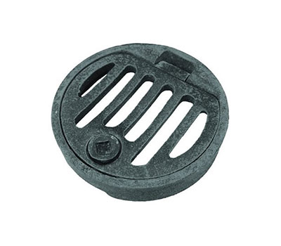 Round hinged locking drain gate