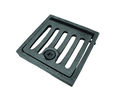 Square hinged locking drain gate