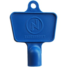 Blue electricity box key